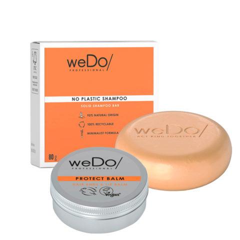 weDo No Plastic Solid shampoo 80gr + Balm 25gr