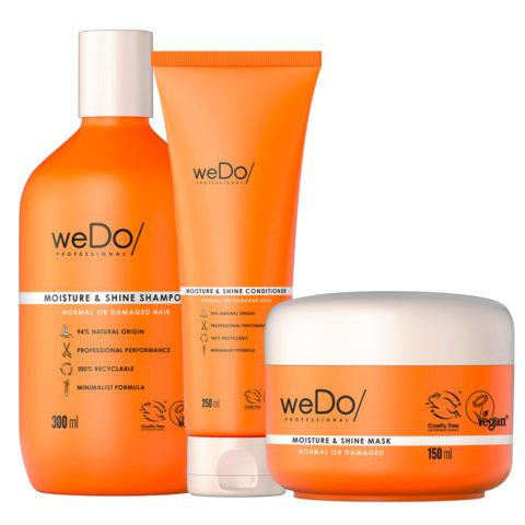 weDo Moisture & Shine Shampoo 300ml +Conditioner 250ml + Mask 150ml