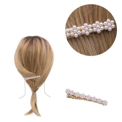 VIAHERMADA Hair clip with beads 6.2x0.8cm