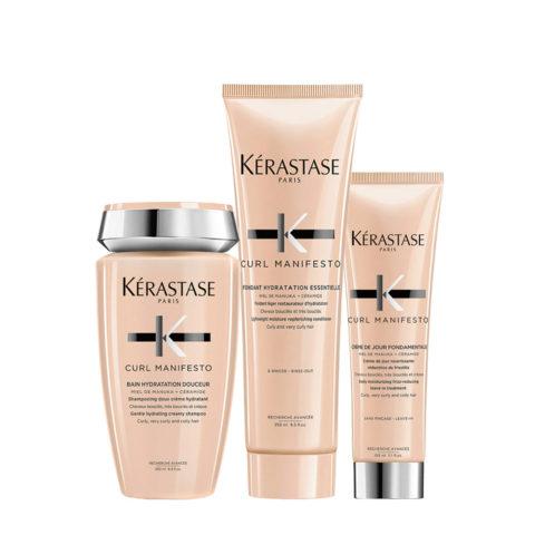 Kerastase Curl Manifesto Kit Curly Hair Shampoo 250ml Conditioner 250ml Cream 150ml