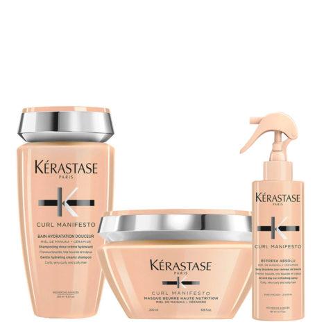 Kerastase Curl Manifesto Kit Hair Curl Shampoo 250ml Mask 200ml Spray190ml