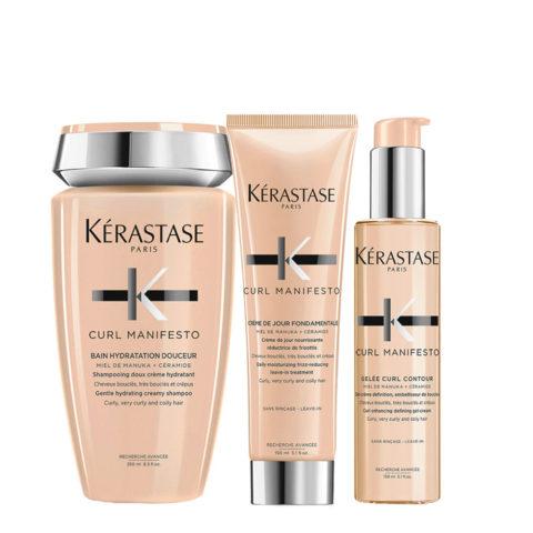 Kerastase Curl Manifesto Kit Curly Hair Shampoo 250ml Cream150ml Cream-Gel150ml