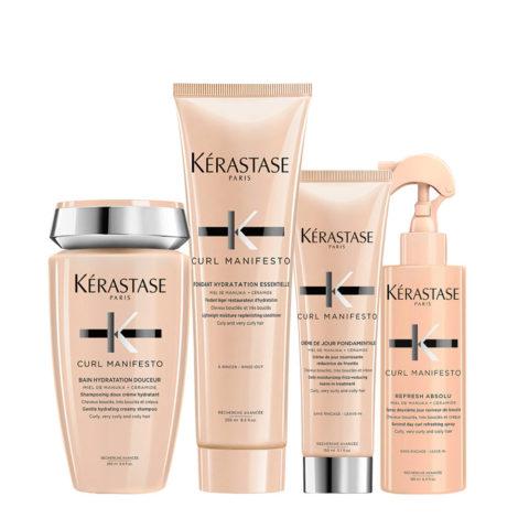 Kerastase Curl Manifesto Kit Curly Hair Shampoo250ml Conditioner250ml Cream150ml Spray190ml