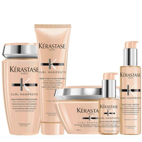 Kerastase Curl Manifesto Kit Curly Hair Shampoo250ml Mask250ml Conditioner250ml Oil50ml Cream150ml