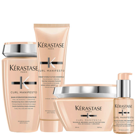 Kerastase Curl Manifesto Kit Curly Hair Shampoo250ml Mask250ml Conditioner250ml Oil50ml
