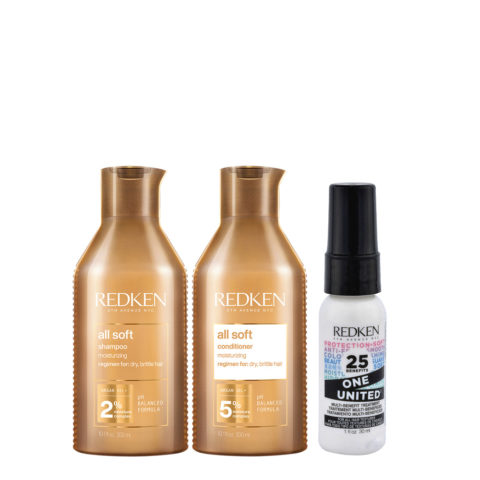 Redken All Soft Kit Shampoo300ml Conditioner300ml One United All in one spray30ml
