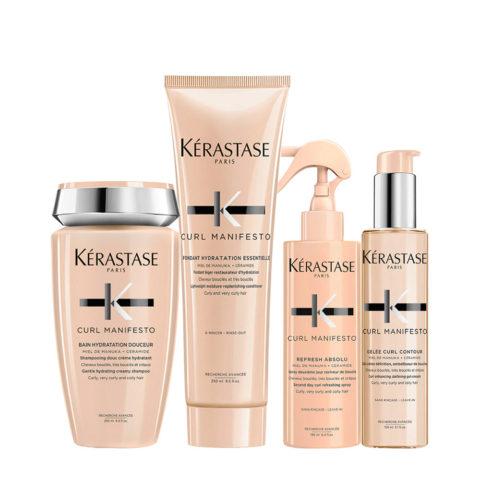 Kerastase Curl Manifesto Kit Curly Hair Shampoo250ml Conditioner250ml Spray150ml Cream150ml