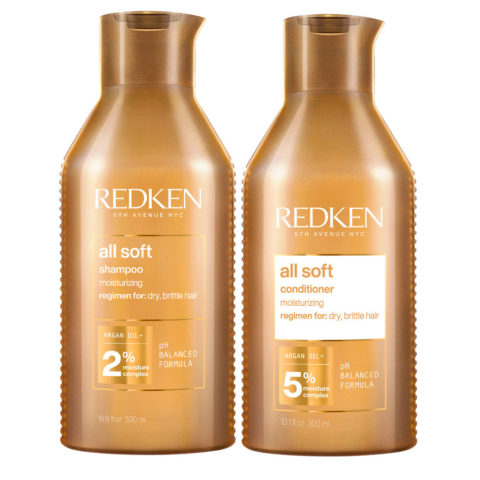 Redken All Soft Kit Shampoo 500ml and Conditioner 500ml - dry hair