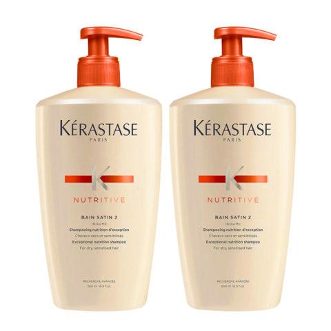 Kerastase Nutritive Bain Satin 2 Kit 2 Shampoo for dry hair 500ml+500ml