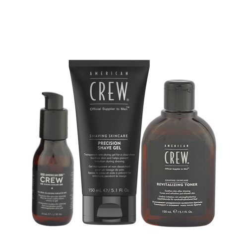 American Crew Shaving Kit Shave Oil 50ml Shave Gel 150ml Toner 150ml