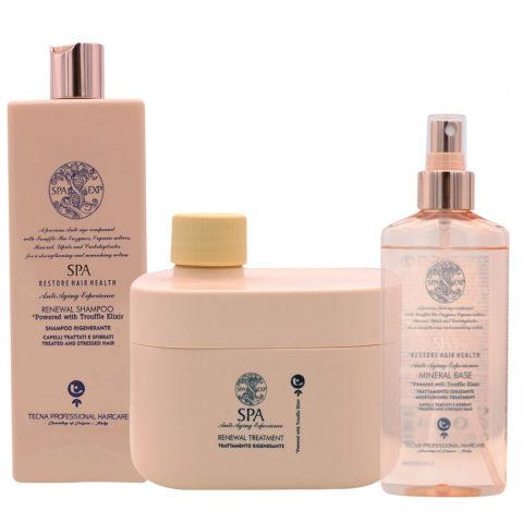 Tecna SPA Kit XL Shampoo 500ml Treatment 500ml Mineral base 200ml