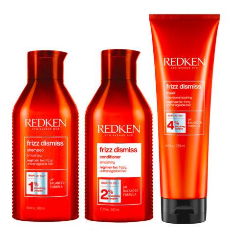 Redken Frizz Dismiss Kit Anti-frizz Shampoo 300ml  Conditioner 300ml Mask 250ml