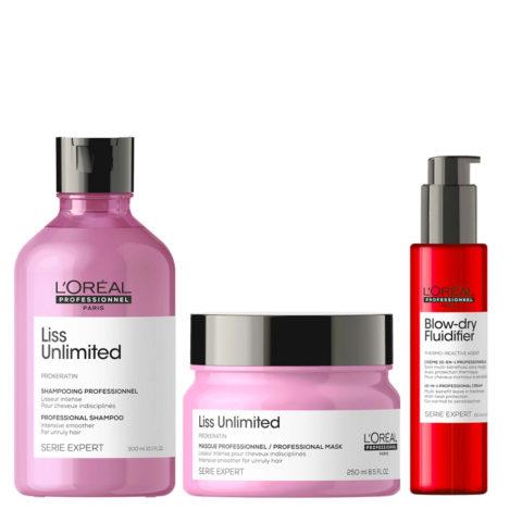 L'Oréal Professionnel Paris Serie Expert Liss Unlimited Kit + Blow Dry Fluidifier Leave In