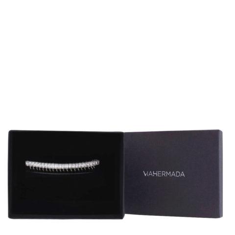 VIAHERMADA Silver comb hair clip with crystals