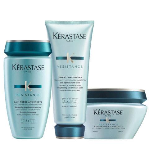 Kerastase Force Architecte Shampoo 250ml Ciment Anti Usure 200ml Reconstruction mask 200ml