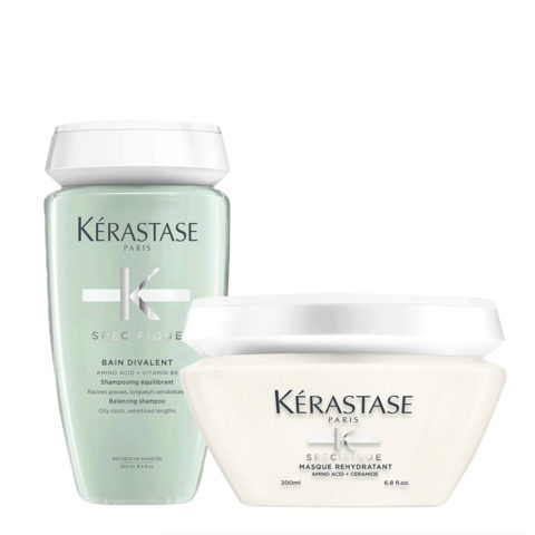 Kérastase Spécifique Bain Divalent Shampoo 250ml Masque Rehydratant 200ml