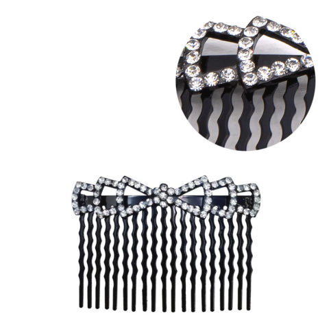 VIAHERMADA Bow Hair Clip with Rhinestones