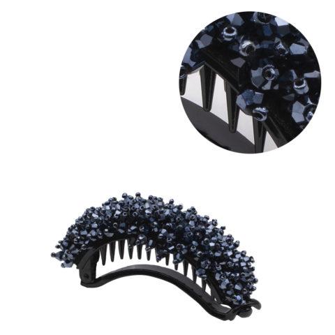 VIAHERMADA Banana Hair Clip with Blue Crystals