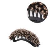 VIAHERMADA Banana Hair Clip with Bronze Crystals