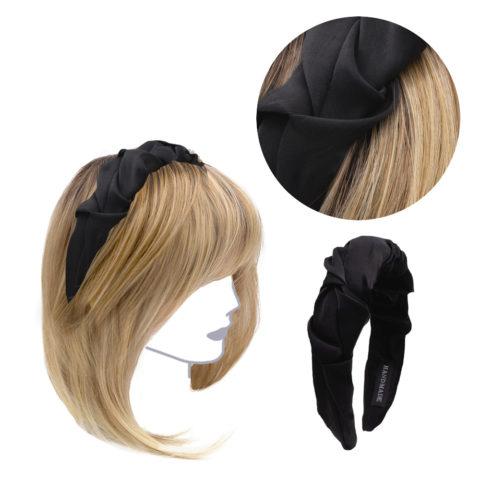 VIAHERMADA Handmade Headband in Black Fabric