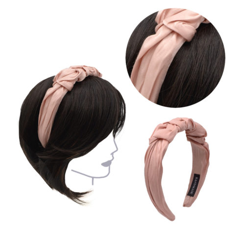 VIAHERMADA Handmade Headband in Pink Fabric