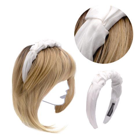 VIAHERMADA Handmade Headband in White Fabric