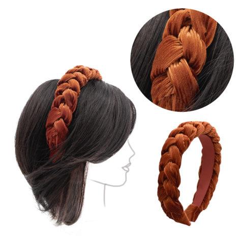 VIAHERMADA Copper-colored corduroy headband