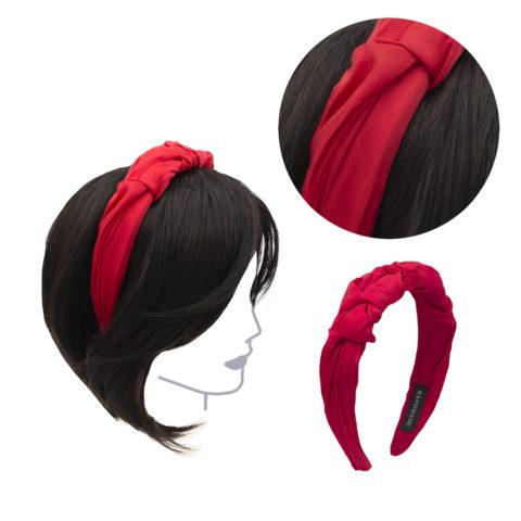 VIAHERMADA Handmade Headband in Red Fabric