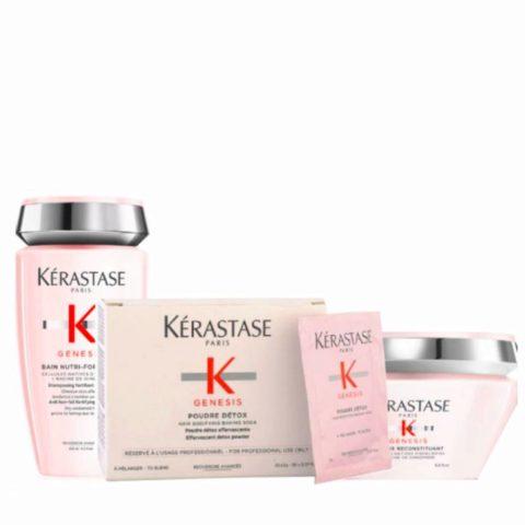 Kerastase Genesis Kit  Shampoo 250ml Powder Mix 2grx30 Mask 200ml