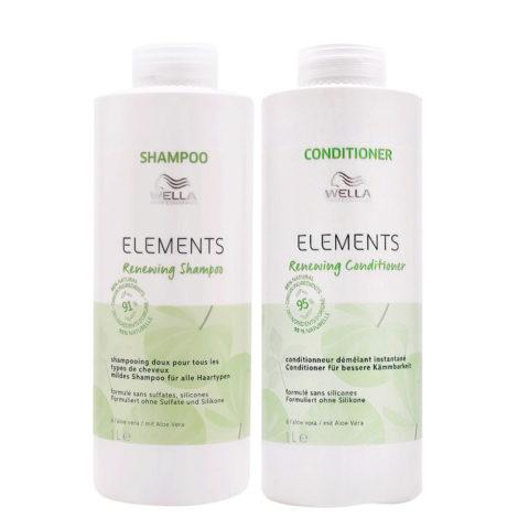 Wella Professionals Elements Renewing Kit Shampoo 1000ml Conditioner 1000ml