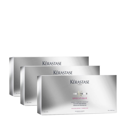 Kerastase Specifique Cure anti chute intensive 10x6ml x 3 box- intense anti thinning care