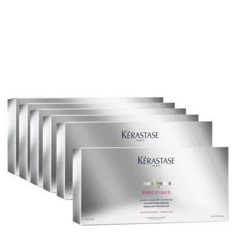 Kerastase Specifique Cure anti chute intensive 10x6ml x 6 box - intense anti thinning care