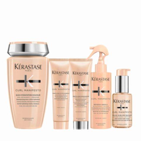 Kerastase Curl Manifesto Kit Shampoo250ml Conditioner250ml Cream150ml Spray190mlOil50ml