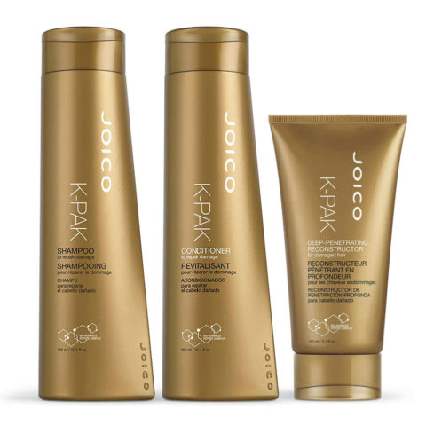 Joico K-pak Kit1 Shampoo 300ml Conditioner 300ml Deep penetrating reconstructor 150ml