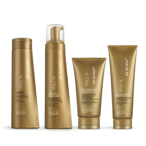 Joico K-Pak New Reconstruction therapy: Shampoo, Leave-in protectant, Reconstructor, Intense hydrator