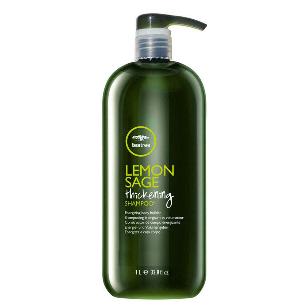 Paul Mitchell Tea tree Lemon sage Thickening shampoo 1000ml - sebum-normalizing shampoo