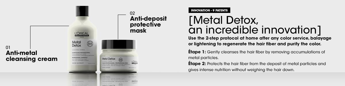 L'Oréal Professionnel Metal Detox, neutralizza i metalli presenti nella fibra capillare